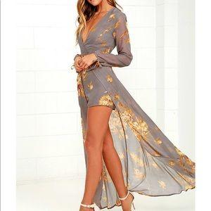 Grey dandelion lulus long sleeve dress